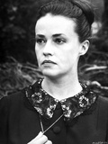 Jeanne Moreau Portrait in Black Dress with Floral Black Collar Photo by  Movie Star News