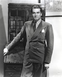 Laurence Olivier wearing Formal Suit in Black and White Portrait Photo by  Movie Star News