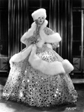Marion Davies posed in A Glitter Dress in Black and White Photo by  Movie Star News