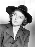 Ingrid Bergman With Hat Close Up Portrait Black and White Photo by  Movie Star News