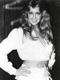 Heather Locklear Posed with Hands on Hips in White Dress with Straw Belt Photo by  Movie Star News