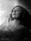Irene Dunne on a See Through Dress Hands on Chest Portrait Photo by  Movie Star News