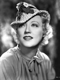 Marion Davies posed wearing A Floral Hat in Black and White Photo by  Movie Star News