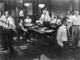 Twelve Angry Men in a Conference Room Scene in Black and White Photo autor Movie Star News