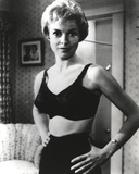 Janet Leigh Posed in Black Linen Lingerie with Hands on the Waist Photo by  Movie Star News
