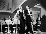 Fred Astaire and Ginger Rogers Walking in Front of Orchestra Photo by  Movie Star News