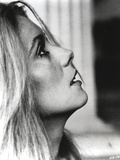 Catherine Deneuve Facing Sid View Close Up Portrait Black and White Photo by  Movie Star News