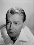 Alan Ladd Looking Away in Portrait in Black and White Photo by  Movie Star News