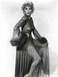 Stella Stevens Posed in Black and White Portrait wearing Elegant Gown Photo by  Movie Star News