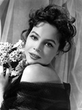 Leslie Caron Portrait in Classic with A Bouquet of Flowers Photo by  Movie Star News