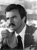 Burt Reynolds in Black Suit and Tie with Handkerchief on Pocket Photo by  Movie Star News