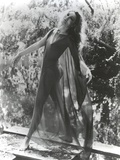Julie Newmar wearing See-Through Lingerie Black and White Photo by  Movie Star News