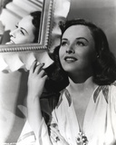 Paulette Goddard smiling and Looking Up wearing Floral Dress Portrait Photo by  Movie Star News