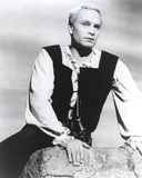 Laurence Olivier Leaning on Rock in Formal Outfit Black and White Photo by  Movie Star News