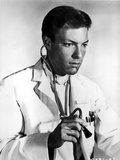Richard Chamberlain standing in Doctor Attire With Stethoscope Photo by  Movie Star News