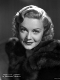 Madeleine Carroll Portrait in Black Dress with a Smile Photo by  Movie Star News