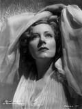 Irene Dunne on White Lace Shawl and White Dress Portrait Photo by  Movie Star News