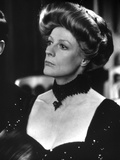 Maggie Smith Looking Away in Black Dress with Black Necklace Photo by  Movie Star News