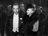 Fred Astaire and Ginger Rogers Excerpt from Film in Black and White Photo by  Movie Star News