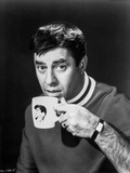 Dean Martin and Jerry Lewis Drinking in a White Mug in Black and White Photo by  Movie Star News