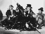 Marx Brothers Scene with Three Men smiling in Black and White Photo by  Movie Star News