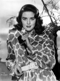 Dorothy Malone on a Printed Dress posed and Slightly smiling Photo by  Movie Star News