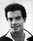 Peter Gallagher smiling wearing Coat in Black and White Close Up Portrait Photo by  Movie Star News