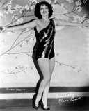 Clara Bow Posed in Black Sexy Dress with Arms Wide Open Photo by ER Richee