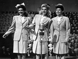 Andrew Sisters singing on the Stage in Group Picture in Classic Photo by  Movie Star News