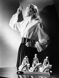 Ingrid Bergman standing a Long Sleeve Blouse and Skirt Photo by  Movie Star News