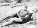 From Here To Eternity Man and Woman laying in Seashore Photo by  Movie Star News