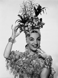 Carmen Miranda with Fruits and Leaves as Head Dress Photo by  Movie Star News