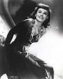 Paulette Goddard smiling in Sexy Lace Dress Portrait Photo by  Movie Star News