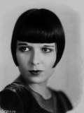 Louise Brooks Looking Away in Black Dress with Bangs Photo by  Movie Star News