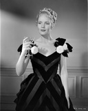 Frances Farmer Dark Dress with Champagne Glass on Hand Photo by  Movie Star News