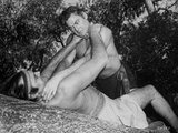 Johnny Weissmuller Choking a Man in a Movie Scene Photo by  Movie Star News