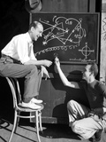 Fred Astaire Conversing in Black and White Portrait Photo by  Hendrickson