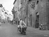Rome Adventure Man in Suit Riding a Scooter with Woman Photo by  Movie Star News