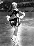 Sonja Henie on a Santa Attire while Skating and Swaying Photo by  Movie Star News