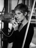 Barbra Streisand on Long Sleeve Top Answering Phone Photo by  Movie Star News