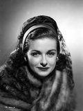 Joan Bennett on a Lace Netted Veil and Slightly smiling Photo by  Movie Star News