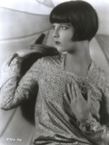 Louise Brooks Posed in Elegant Dress Classic Portrait Photo by  Movie Star News