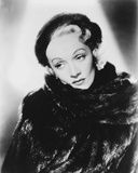 Marlene Dietrich Posed in Fur Dress with Earrings Photo by  Movie Star News