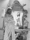 Angie Dickinson Posed in the Mirror Black and White Photo by  Movie Star News