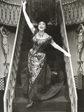 Dorothy Lamour in Elegant Dress in Black and White Photo by  Movie Star News