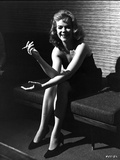 Anne Francis Smoking Cigarette in Black and White Portrait Photo by  Movie Star News