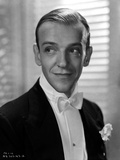 Fred Astaire in Suit and White Bow Tie in Black and White Photo by E Bachrach