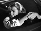 Elizabeth Shue Holding Steering Wheel in Classic Photo by  Movie Star News