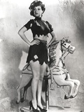 Dorothy Lamour Hands on Waist in Classic with Carrousel Photo by  Movie Star News