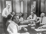 Twelve Angry Men in Meeting Scene in Black and White Photo by  Movie Star News